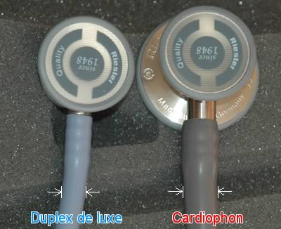 Размер трубок Kardiophon