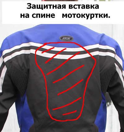 защита мотокуртки сзади