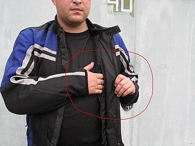 карман мотоциклетной куртки для хранения документов
