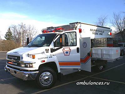 Машина скорой помощи для выездов на пожары и прочие происшествия